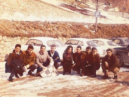 un gruppo di partecipanti al traguardo di Foppolo